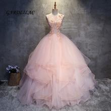 2019 pescoço rosa quinceanera vestidos babados organza masquerade vestido de baile longo vestido de baile doce 16 vestidos de 15 anos