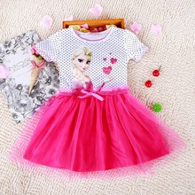Kids Baby Girls Princess Dress Elsa's and Anna's girl dresses princess elsa anna patterns dress Girls party dress