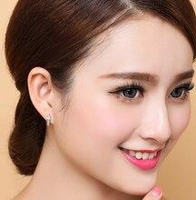 """Fashion 925 sterling silver stud earrings jewelry luxury Rhinestone inlaid """"U""""design ear buckle earrings women jewelry"""