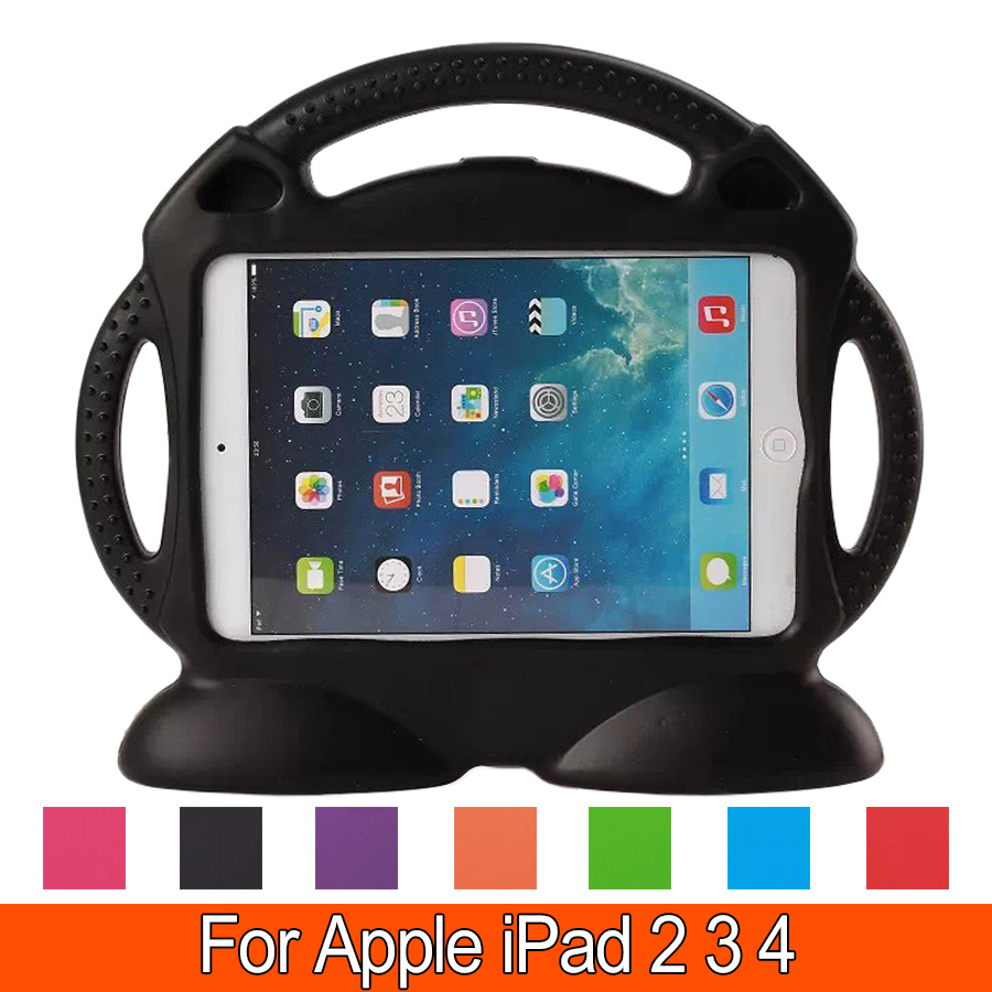 High quality EVA Kids Safe Friendly Soft Thick Foam Shock proof Case for iPad 2 iPad 3 iPad 4 Stand cover