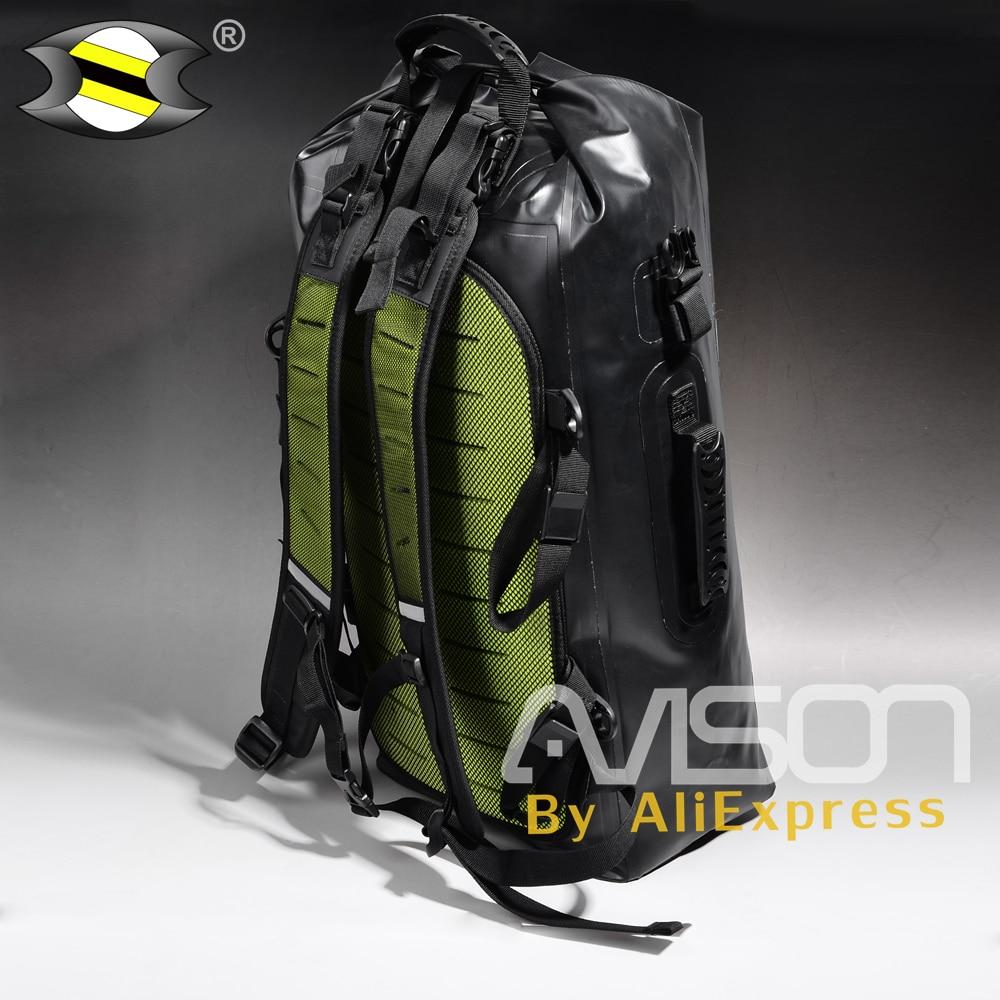 Full Waterproof Hiking Backpack Tail Saddle Bags Motorcycle Rear Package Helmet Bag Hang Motorbike