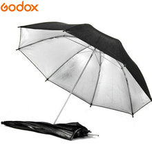"Gododx 40""/101cm Professional Photography Studio Reflective Lighting Black Silver Umbrella"