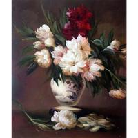 Decoration oil painting Peonies In A Vase Edouard Manet Classic still life art canvas wall pictures for living room