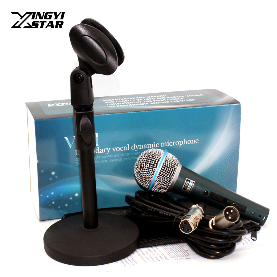 Professional Switch Dynamic Wired Microphone Stand Metal Desktop Holder For BETA 58 BT 58A KTV Karaoke Mic Microfone Audio MixerProfessional Switch Dynamic Wired Microphone Stand Metal Desktop Holder For BETA 58 BT 58A KTV Karaoke Mic Microfone Audio Mixer
