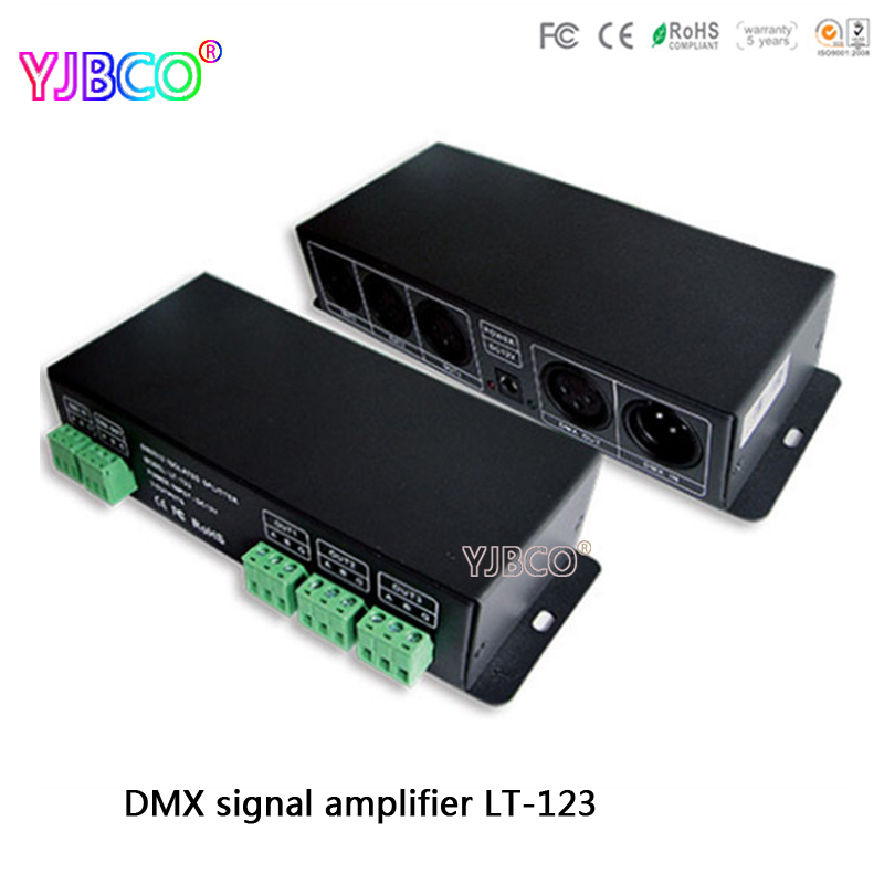 цены Free shipping led Amplifier DC12V input;LT-123 DMX512 Signal Amplifier;DMX Amplifier RS-485 Signal Amplifier