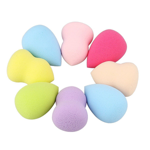 Image 3 - 4pcs/lot Makeup Sponge Cosmetic Puff Mixed Shapes and Colors Facial Liquid Foundation Base Powder Blending Tool