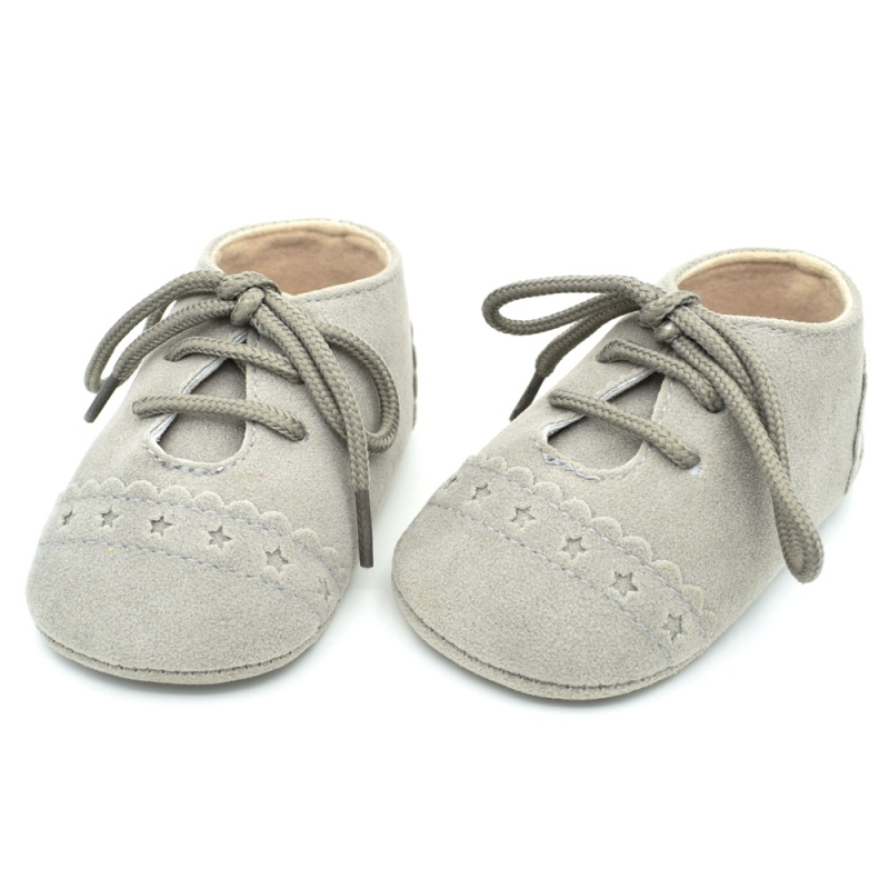 Infant Baby Girls Boys Spring Lace Up Soft Leather Shoes Toddler Sneaker Non-slip Shoes Casual Prewalker Baby Shoes 28