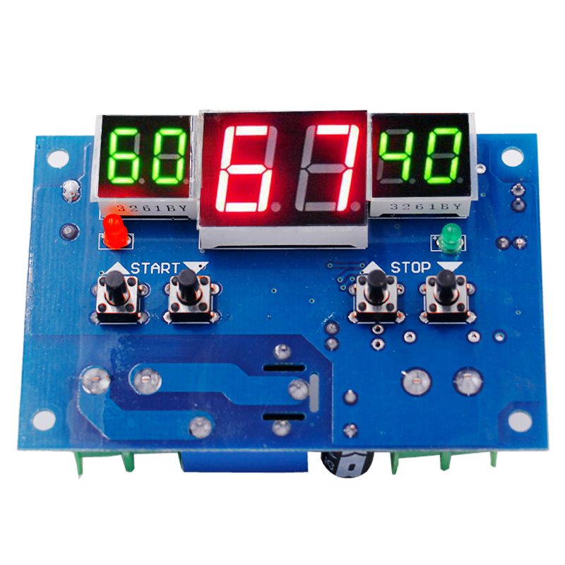 10pcs/lot <font><b>W1401</b></font> <font><b>DC12V</b></font> Digital LED display thermometer <font><b>thermostat</b></font> temperature controller With sensor 40%off image