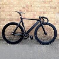 Fixed Gear Bike Urban Track Bike Fixie Aluminum Alloy frame Commute Bike 70mm rim road bike fixie bicycle