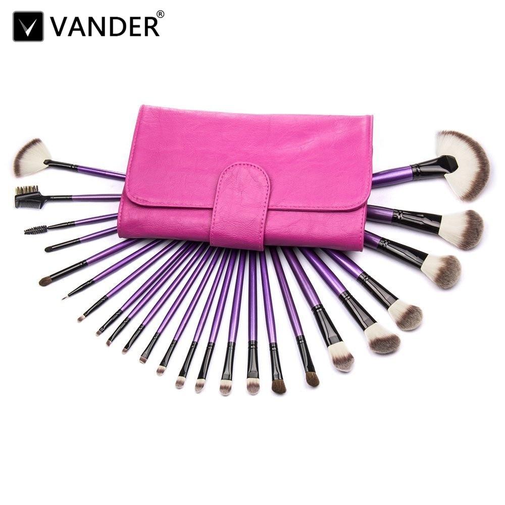 Makeup Brushes VANDER 24pc Cosmetics Brushes Set Synthetic Kabuki Professional Kit Cream Contour Face Powder Foundation Eyeliner
