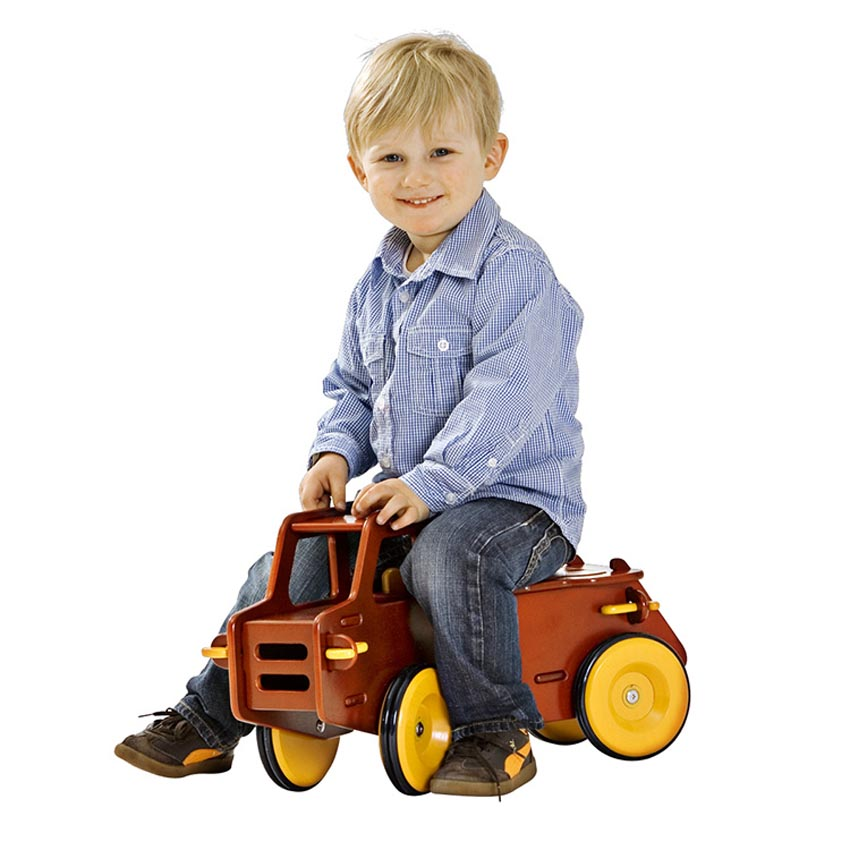 wood baby toy Dump Truck Natural / Red color for available