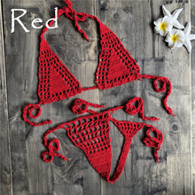 Handmade Crochet Micro Bikini G Thong String Beach Micro Swimwear Sexy Lingerie Sets 2019 Hot Sale