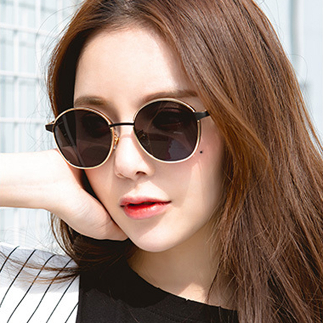 a0f851e05c3 fashion vintage ladies metal frame round sunglasses women brand trend black  oval sun glasses men 2018 retro blue mirror eyewear