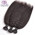 Hot Peruvian Hair Kinky Straight Weave 3Pcs/lot Top Quality Unprocessed Virgin Hair Free Shipping Natural Black 100% Human Hair