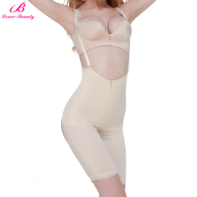 d7c2572992735 Lover-Beauty Shapewear Corsets Women Zipper Slimming Waist Full Body Shaper  Bodysuits Booty Lifter Tummy
