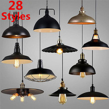 28 Style Vintage Loft Chandelier Light Nordic Industrial Metal Bronze Black Lamp Retro LED Hanging Lighting Bar Restaurant Cover