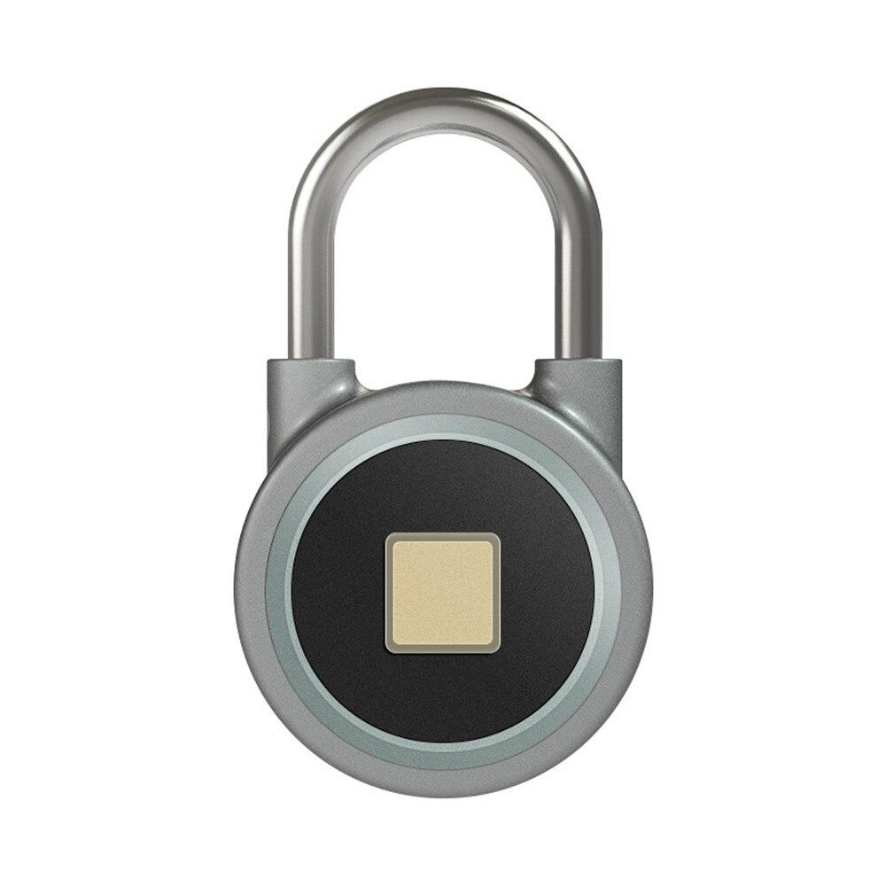 G Smart padlock electronic lock warehouse door security door lock dormitory cabinet bedroom Bluetooth fingerprint padlock warehouse door gate 60mm metal security lock padlock lengthening lock w 4 pcs keys