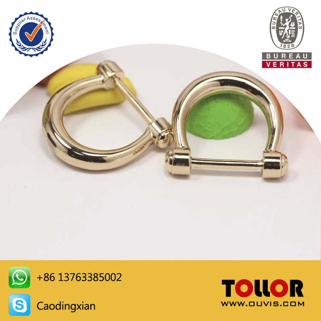 High Quality Pressure Casting Gold Hardware D Rings For Handbag Accessories Silver Stainless Metal