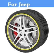 8M/Roll Auto Wheel Hub Tire Sticker Car Decor Styling Protection For Jeep Liberty Renegade Wrangler Commander