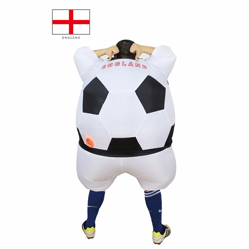 Adult England Football Player Costume Fancy Dress Blow Up Suit Outfit World Cup (2)