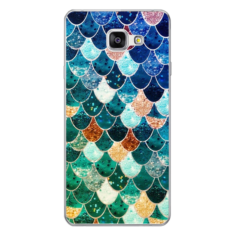Для samsung Galaxy A3 2016 A310 случае 4,7 дюймов Роскошные Дизайн Happy Цвет рыбьей чешуи решетки окрашены жесткий Пластик PC чехол телефона