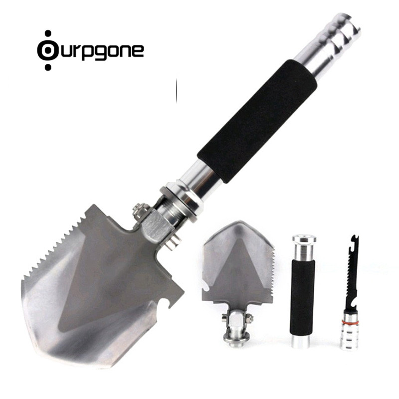 Ourpgone Mini Outdoor Shovel Multifunctional Military Folding Survival Shovel Outdoor Camping Spade Shovel Survival Tool professional military tactical multifunction shovel outdoor camping survival folding portable spade tool equipment hunting edc