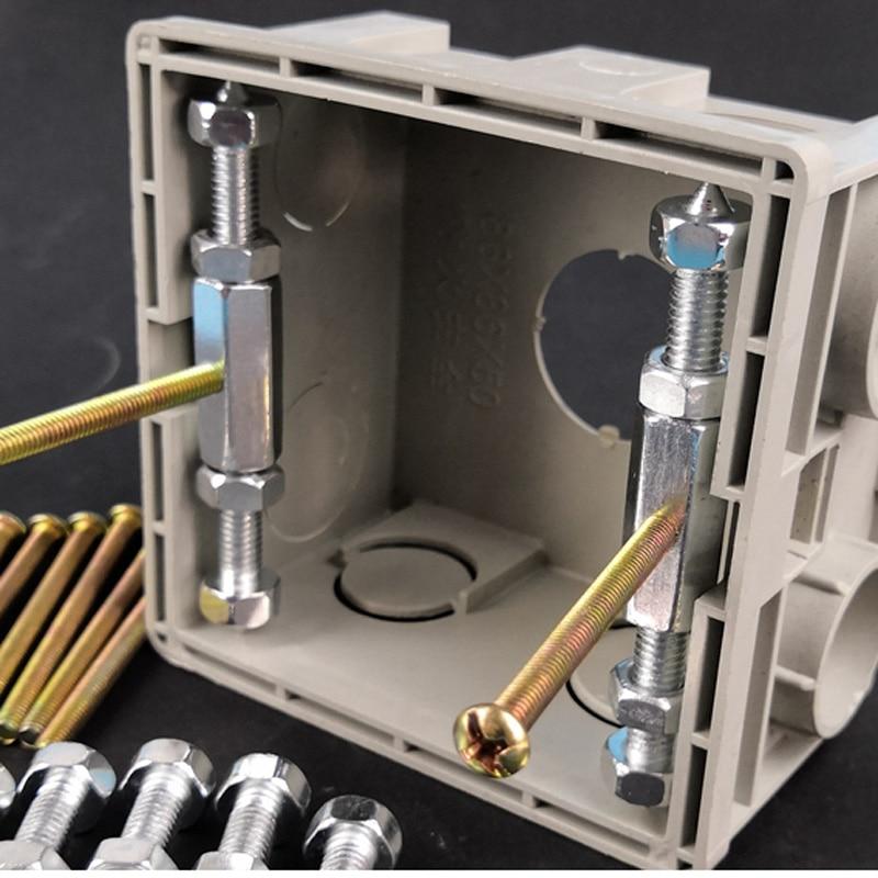 10pcs 86 Type Socket Wall Mount Switch Box Recovery Bottom Dark Box Repair Secret Stash Struts Repair