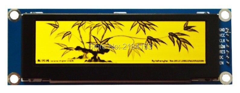 En gros 2 pcs 3.12 pouce 7 P SPI Jaune OLED Module SSD1322 Dur IC 256*64 Interface Parallèle
