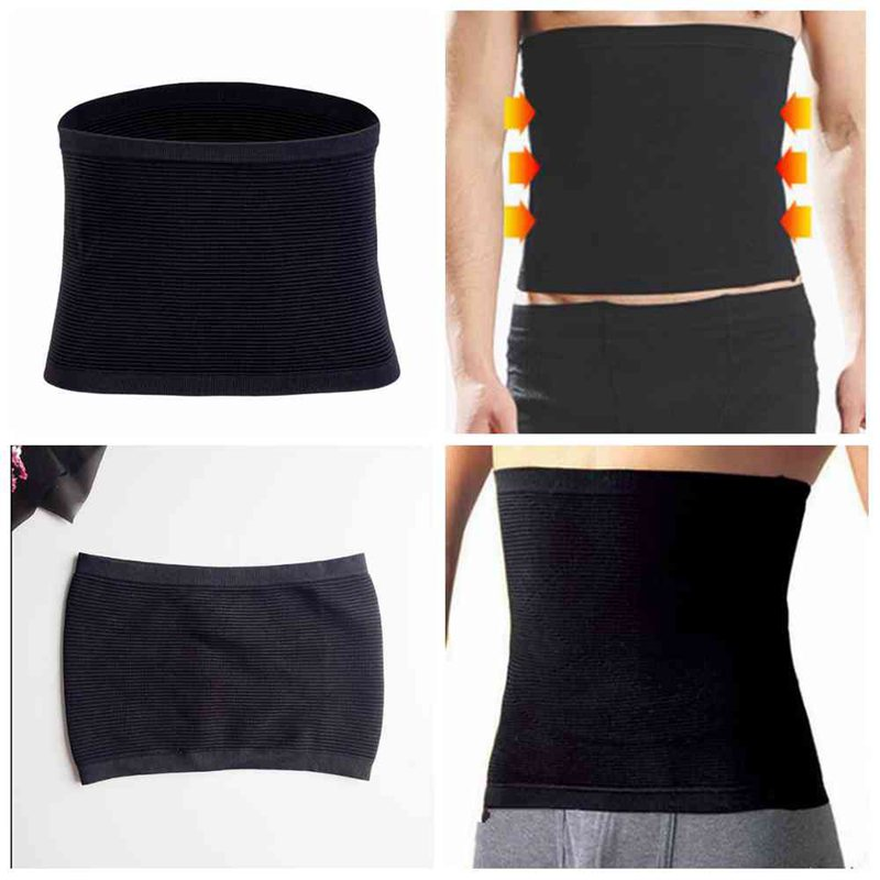 1 Pcs Mens Womens High Waist Abdomen Belt Unisex Fat Burner Corset Beer Belly Body Shaper Slimming Waist Belt CWW9149