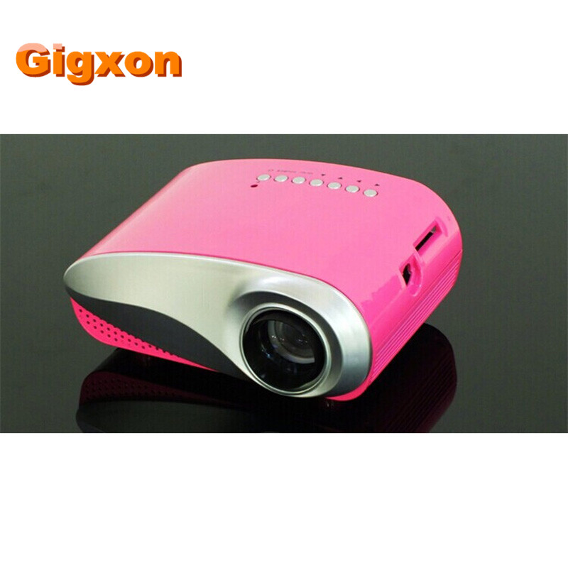 Gigxon-G600 60 lúmenes para estudio/juegos de mini LED proyector HDMI/USB/SD/AV/