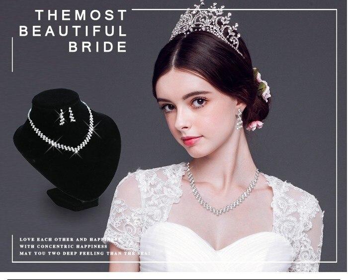 Wedding Jewelry Crystal Bridal Wedding Choker Necklace 6
