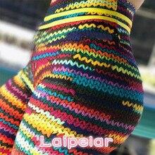 2018 New Original Knit Printing Leggings Women High Waist Elastic Fitness Colorful String Front Drop Shipping Legging Laipelar