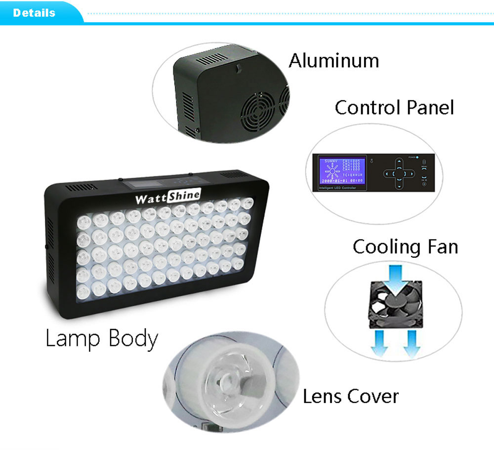 Remote or Touch control 180W LED Aquarium Light Timer Control Dimmable lamp Freshwater and Saltwater Coral Reef Grow Fish Tank (14)