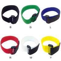 10 stücke 20x300mm Kabel Krawatten Reusable Selbstklebende Kabelbinder Reverse schnalle Velcro strap kabel Nylon Verschluss haken Schleife Halsband Cord
