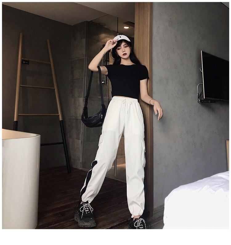 mulheres calças de Cintura Alta Soltas calças