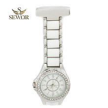 SEWOR 2019 Top Brand New Fashion Elegance sliver Crystal Pendant Watch top Popularity Quartz Nurse Pocket Watch C171