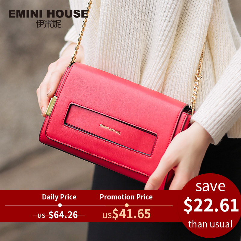 EMINI HOUSE Split nahast klapipott New Design Naiste Messenger Kotid Casual sidurid Naiste õlakotid Fashion Crossbody Bag