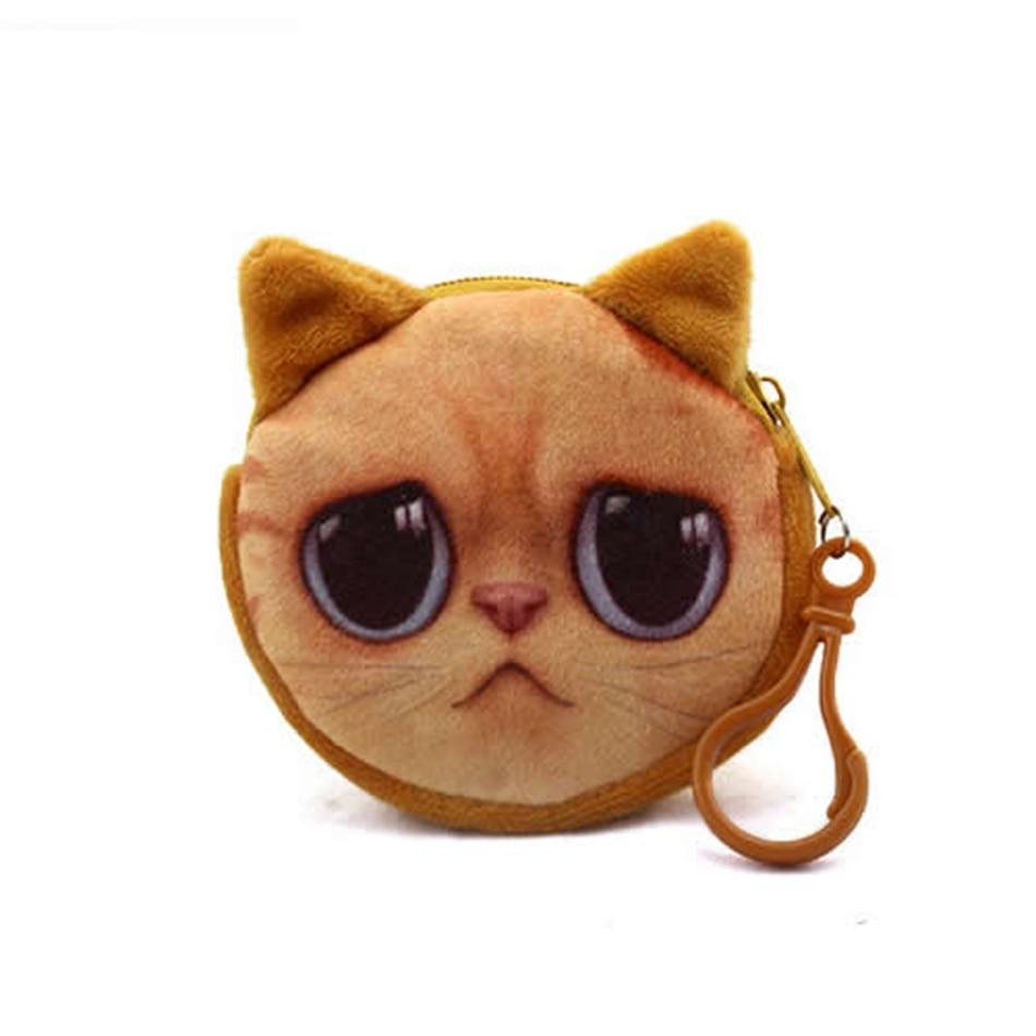 zipper harajuku 3d gato de Size : 8cm * 8cm