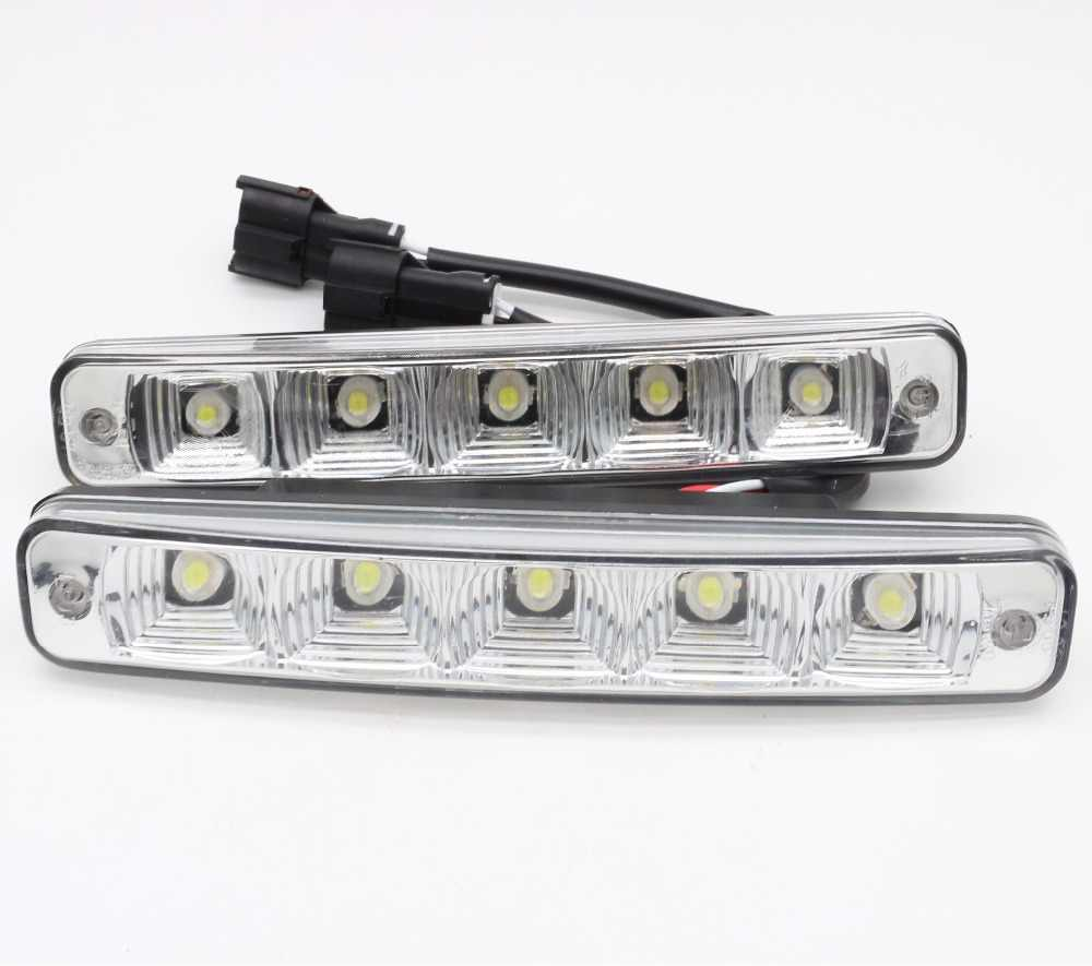 2pcs 12V 10W super bright 5 LED E4 aluminum shell 100% waterproof DRL LED car daytime running light E4