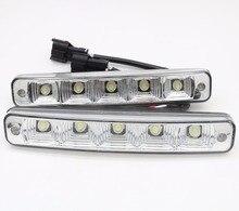 2 шт. 12 В 10 Вт супер яркий 5 светодио дный E4 алюминиевый корпус 100% водонепроницаемый DRL светодио дный автомобилей дневного света E4