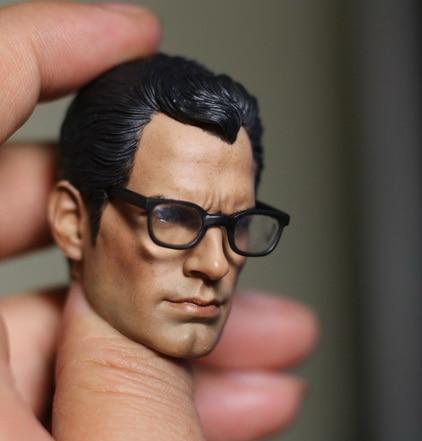 1 6 scale figure Accessory Superman Clark Kent head sculpt With glasses for 12 Action figure