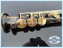 France Henri selmer B soprano saxophone Super action 80 series II Black Nickel Gold body carved pattern saxophone