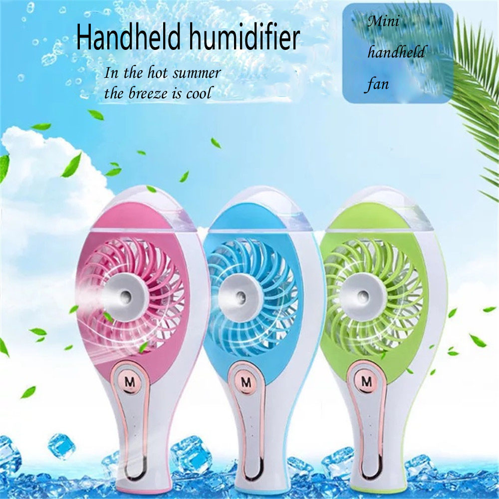 Mini USB Air Conditioner Portable Air Cooling Fan Air Cooler Fans with LED Lights USB Cable Humidifier Purifier for Home Office new portable outdoor mini fans with led lamp light table usb fan spray water humidifier personal air cooler conditioner for home