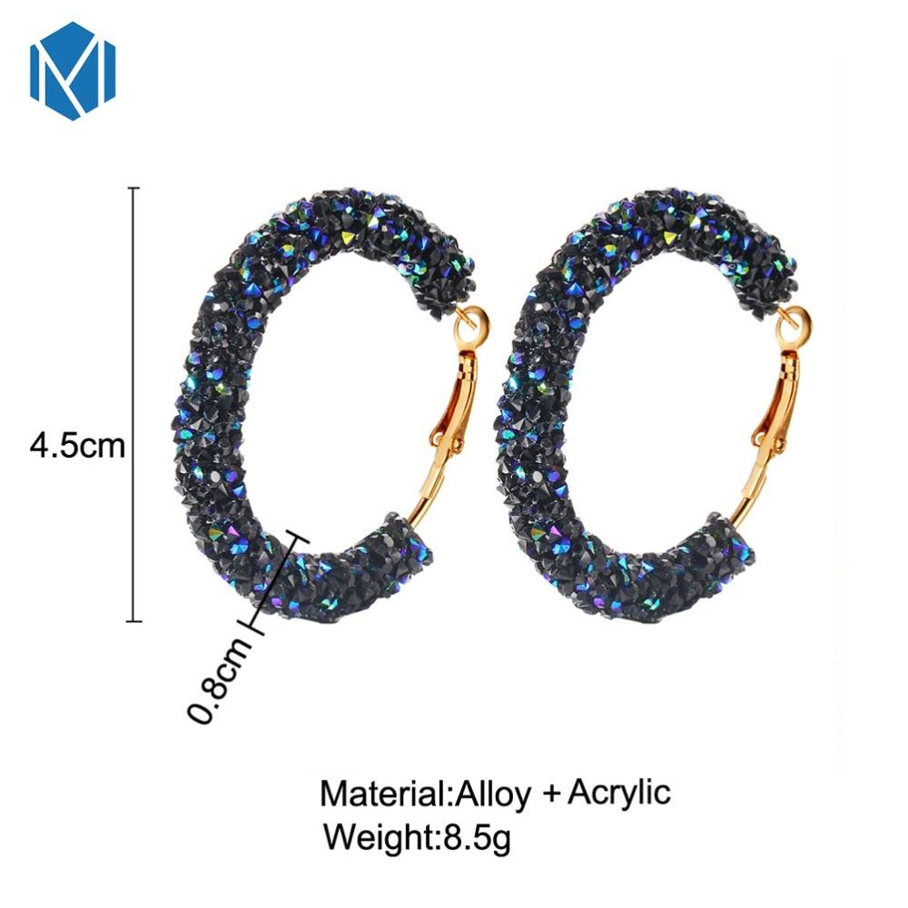bd93ade28 2019 New Design Charm Earrings Women Geometric Girls Round Shiny ...