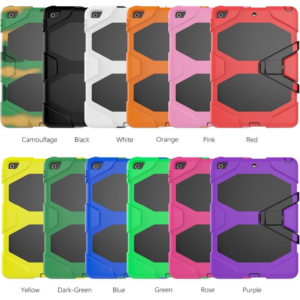 Для Apple iPad Mini1/2/3 Дело Красочный Планшеты В виде ракушки Baby Safe Ударопрочный силиконовый Жесткий чехол с подставка + Стилусы ручка