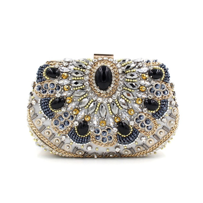 Fashion Clutch Bags Luxury Diamond Evening Bag Gold Silver Women Crystal Clutches Wedding Party Purse Chain Handbags