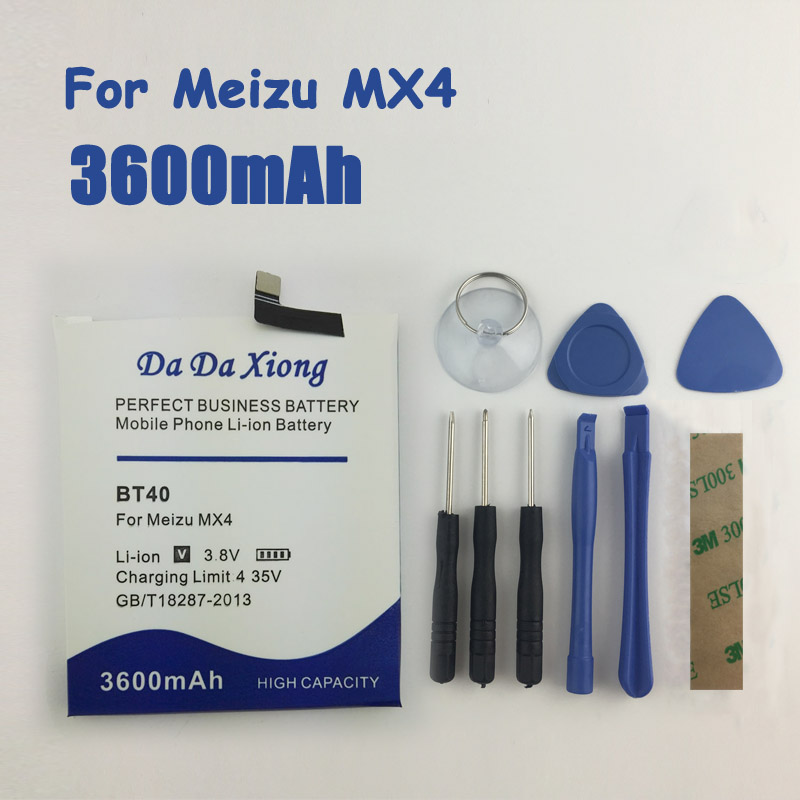 Mobile Phone Batteries Generous 3600mah Bt40 Battery High Quality For Meizu Mx4 Mx 4 M460 M461 Battery Non-Ironing