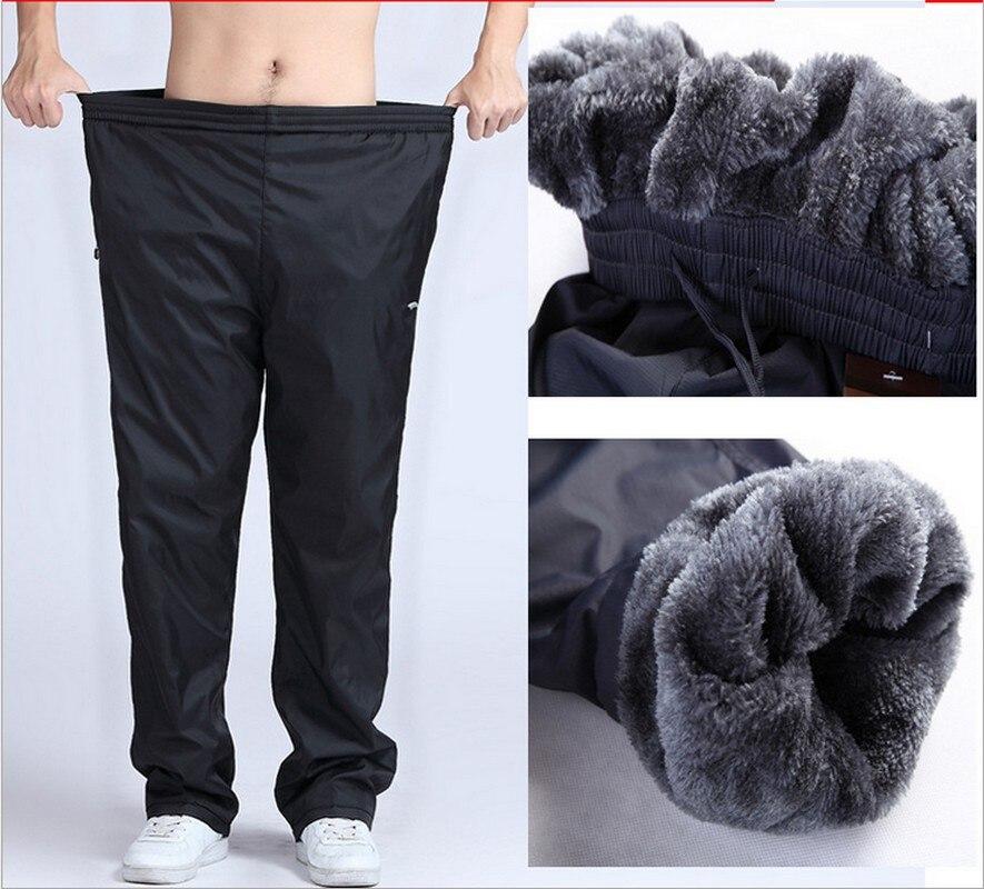 Для мужчин зимние Брюки для девочек плюс Размеры 4XL 5XL 6XL шерсть внутри супер теплый Для мужчин толстые Брюки для девочек флисовые брюки Водонепроницаемый Треники джоггеры