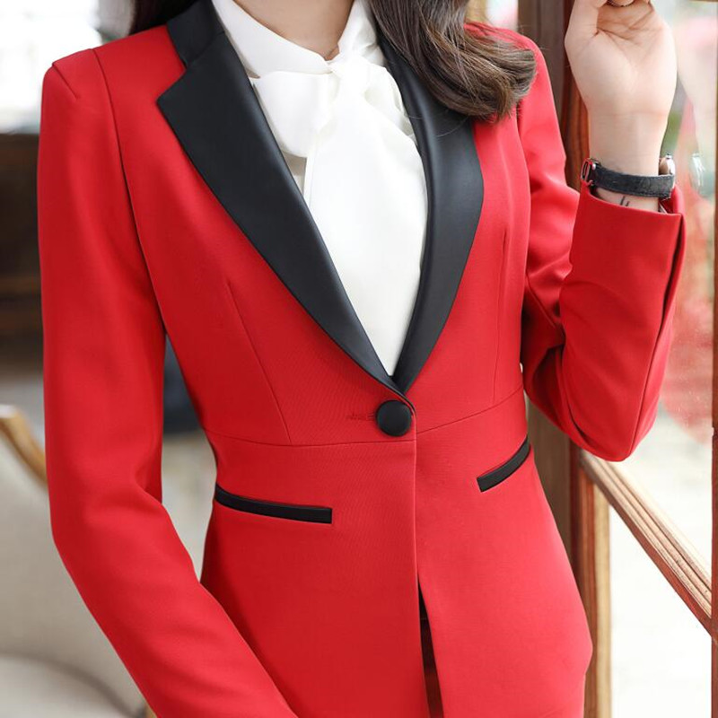 New fashion women skirt suits set Business formal long sleeve Patchwork blazer and skirt office ladies plus size work uniforms-in Skirt Suits from Women's Clothing    3