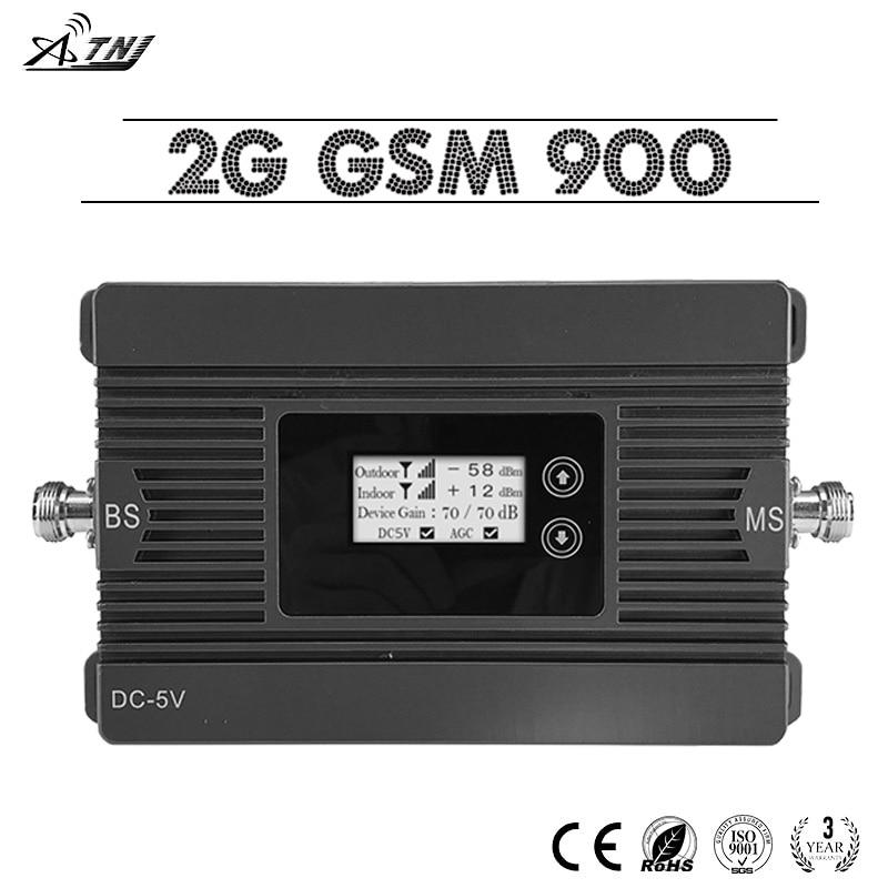 ATNJ 2g Parler Voix GSM 900 Téléphone Portable Répéteur de Signal 80dB Gain 2g GSM 900 mhz Téléphone portable Booster avec Écran lcd GSM Amplificateur
